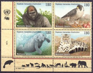 UN Geneva. 1993. 227-30. Fauna. MNH.