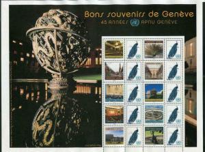 HERRICKSTAMP NEW ISSUES UNITED NATIONS Greetings from Geneva Sheetlet