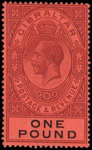 Gibraltar Scott 75 Gibbons 85 Never Hinged Stamp