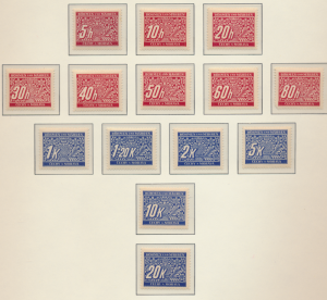 Bohemia and Moravia Stamps Scott #J1 To J14, Mint Never Hinged, Due Complete ...