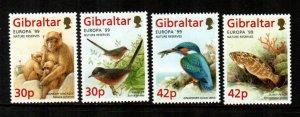Gibraltar 1999, # 794-797 MNH Europa set