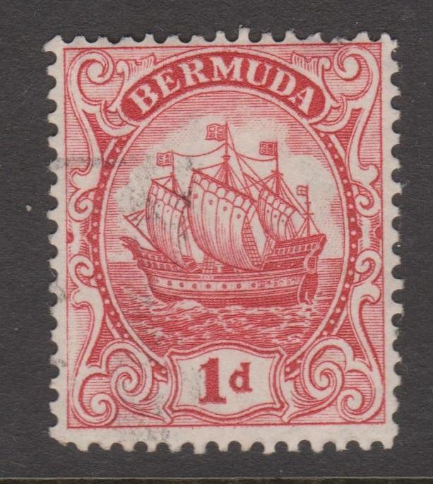 Bermuda 1910 1d Rose Red Sc#42 Used