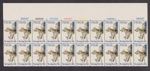 1787 Seeing Eye Dogs MNH plate block of 20