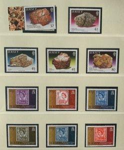 JE106) Jersey 2010 Petrology (5) + Jersey Postal History Part V (6) MUH