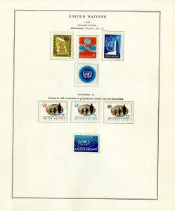 United Nations UN Mint NH 1951 to 1980 New York Stamp Collection