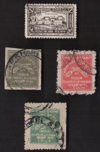 4 CHARKHARI  (INDIAN STATE) (lot A)  Stamps