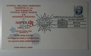NAPEX Sta Natl Postal Museum Washington DC 1993 Arlington VA Philatelic Cachet