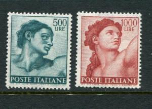 Italy #830-1 MNH (high values of set)
