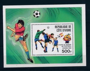 [43644] Ivory coast 1981 Sports World Cup Soccer Football Spain MNH Sheet