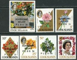 COOK IS. Sc#B1- B7 1968 Hurricane Relief Complete Set OG Mint NH