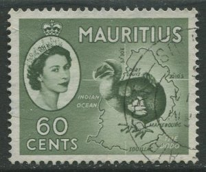 STAMP STATION PERTH Mauritius #261 QEII Definitive Issue FU 1953-1954
