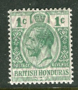 BRITISH HONDURAS; 1915-16 early GV issue fine Mint hinged 1c. value