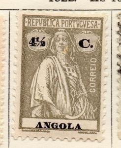 Angola 1922 Early Ceres  Issue Fine Mint Hinged 4.5c. 139708