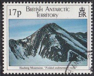 British Antarctic Territory 1995 used Sc #231 17p Hauberg Mountains