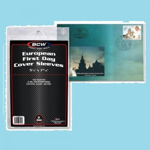 COVER SLEEVES - European FDC (5 1/8 X 7 13/16)-100ea (CVB09)*
