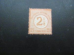 GERMANY 1872 HINGED MI.NR. 29 LARGE SHIELD SINGLE