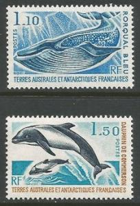 FSAT/TAAF DOLPHINS WHALE 67-68 MNH Y865