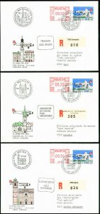 Switzerland Stamps Lot of 5 Flight Covers 1988