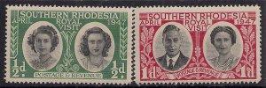 Southern Rhodesia 1947 KGV1 Royal Visit Set Umm SG 62 - 63  ( K1448 )