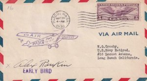 1930, 4th Air Jubilee, Pasco, WA, Signed by Pilot Alex Rankin (41928)