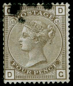 SG160, 4d grey-brown plate 18, FINE USED. Cat £75. DG
