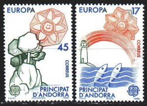 Andorra. 1986. 188-89. Environmental protection, europe-sept. MLH.