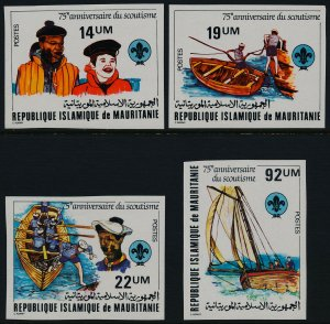 Mauritania 495-8 imperf MNH Scouting Year, Boat