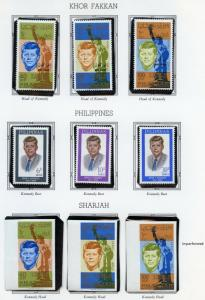SHARJAH  JOHN F KENNEDY MEMORIAL SETS PERF & IMPERF MINT NH &  PHILIPPINES SET