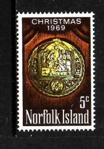 Norfolk Is.-Sc#125-Unused NH set-Christmas-1969-