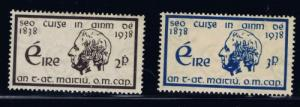 Ireland 101-02 Hinged 1938 Father Matthew set