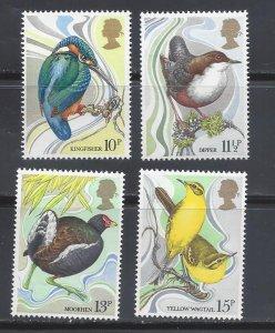 Great Britain MNH 884-7 Birds