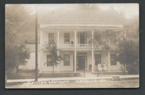 Scott # 401 on Post Card no postal cancelation  Sanatorium in Placerville CALIF