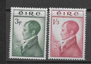 Ireland 149-50 MNH cpl. set vf, 2020 CV $40.50