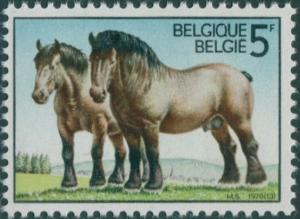 Belgium 1976 SG2436 5f Ardennes Horses MNH