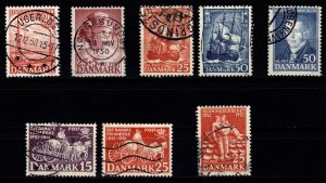 Denmark 1950-52 Commemoratives, Complete Sets [Used]