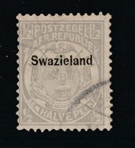 Swaziland a Transvaal 0.5d overprinted & used