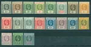 Mauritius #179-197 Part Set  Mint & Used  Scott $92.60