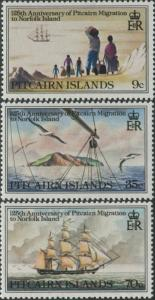 Pitcairn Islands 1981 SG216-218 Migration set MNH