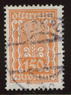 Austria Scott 270 Used stamp from 1922-24 set