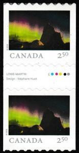 Canada 3069 Far & Wide Nunavut's Arctic Bay $2.50 coil gutter pair MNH 2018