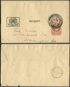 CS10 QV 1/2d Brown Postcard Used Size A