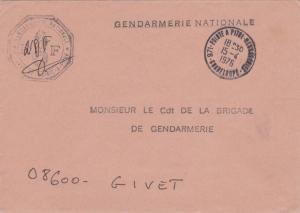 Guadeloupe Military Free Mail 1976 971-Pointe A Pitre, Guadeloupe to Givet, F...