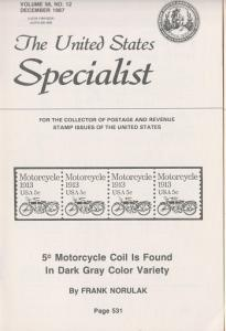The United States Specialist:  Volume 58, No. 12  - December 1987
