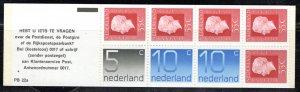 Netherlands Scott # 536c, mint nh, cpl. stamp booklet, se-tenant