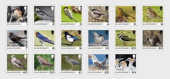 2021 Guernsey Bird Definitives (17)  (Scott NA) MNH