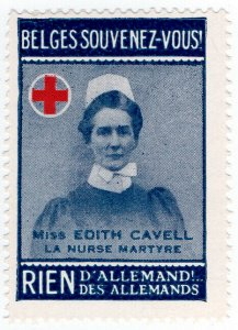 (I.B-CKK) Belgium Great War Cinderella : Edith Cavell (Buy Nothing German)