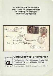 53. Briefmarken-Auktion, Gerd Ladewig  Sept. 27-28, 1985