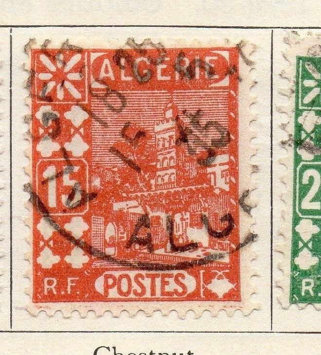 Algeria 1926-27 Early Issue Fine Used 15c. 106874