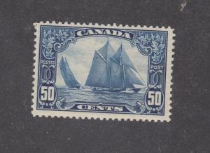 CANADA LOT (KK8787)  # 158 VF-MLH 50cts BLUENOSE CAT VALUE $350