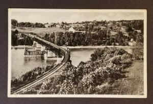 1941 Clementsport Nova Scotia to Merrimacport MA Railroad RPPC  Postcard Cover